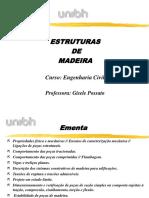 UNIBH_Estruturas de Madeira Apresentação 1° aula