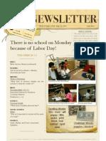 Newsletter (Sept.6 Sept.10)