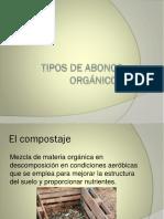 Tipos de Abonos Orgánicos