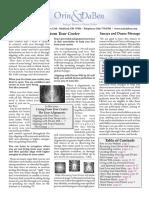 Orin Newsletter