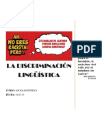 La Discriminacion Linguistica- Sociolinguistica