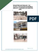 1 Proyecto - Los Desastres Naturales y Su Influencia de Los Pueblos Trabajo Terminado