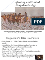 the beggining and end of the napoleonic era