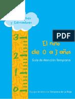 Guia de Atencion Temprana El Nino y La Nina de O a 3 Anos
