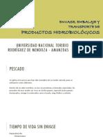Productos Hidrobiologicos, Embalajes y Transporte