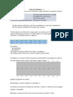 Ficha de Estatística- 1