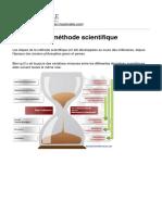 Etapes de La Méthode Scientifique - 2018-01-10 (1)