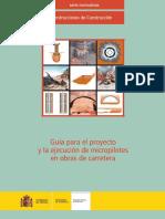 Guia Para El Proyecto y La Ejecucion de Micropilotes en Obras de Carretera, Ministerio de Fomento 2005