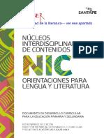 2016 Santa Fe NIC Orientaciones Para Lengua y Literatura