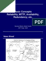 W3a Reliability, MTTF, Availability, Redundancy
