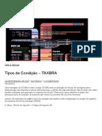 Tipos de Condição – TAXBRA