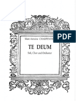 Te Deum (Charpentier) Vocal Score S-s