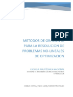 Metodos de Gradiente Para La Resolucion de Problemas No Lineales de Optimizacion1