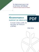 Rapport sur la gouvernance