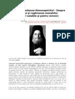Gheronda Emilianos Simonopetritul - Despre Canonul si Rugăciunea Monahilor si Mirenilor
