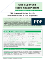 Pacific Coast Pipeline Fact Sheet Spanish