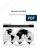 Saccharin from China (Review), USITC Publication 4534 (May 2015)