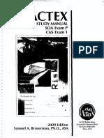 ACTEX P Study Manual