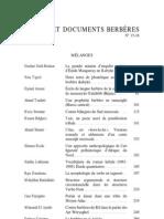 Etudes et Documents Berbères, 15-16, 1998.