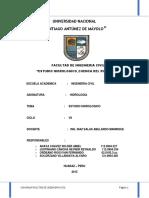 Informe Final de Hidrologia 2016 II