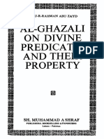 (Al-Ghazali) 'Abdu-r-Rahman Abu Zayd. Al-Ghazali on Divine Predicates and Their Property (1990)