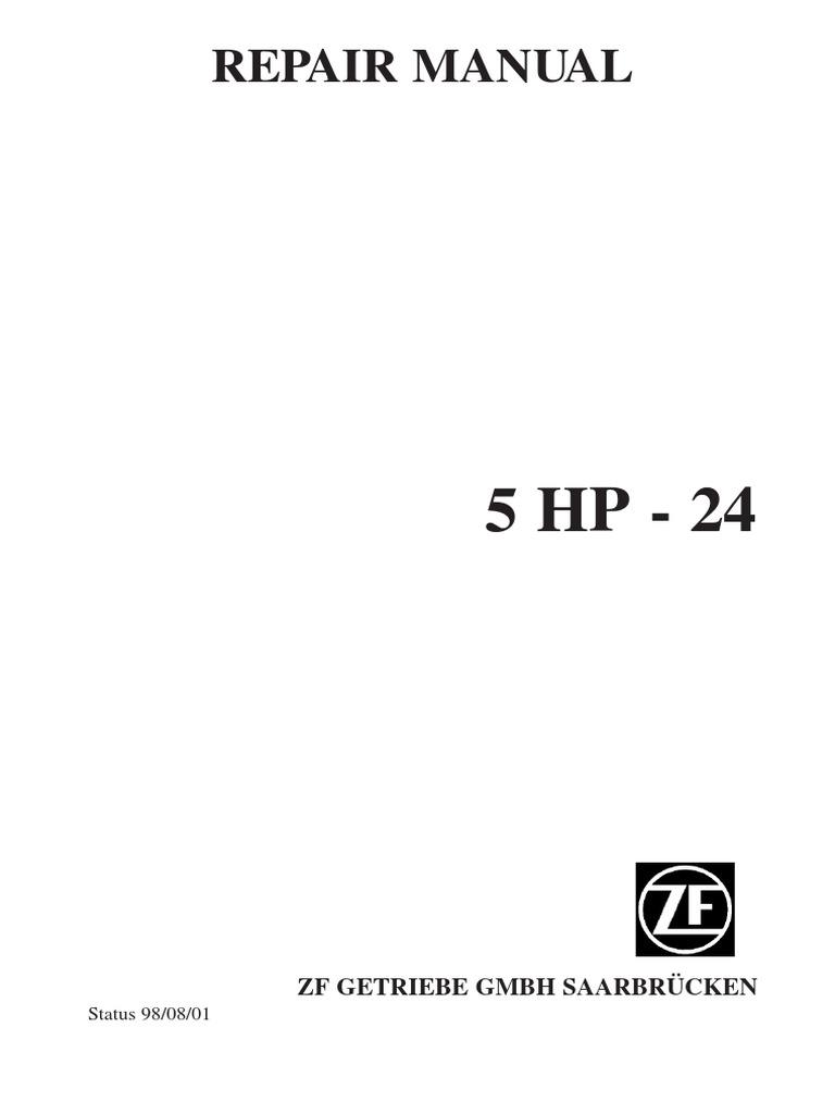 ZF 5HP24 1 Repair Manual.pdf | Manual Transmission | Transmission  (Mechanics)