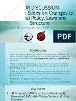 Strategic Slides on Changes to Federal Policy, Laws & Structure Dec 26 17