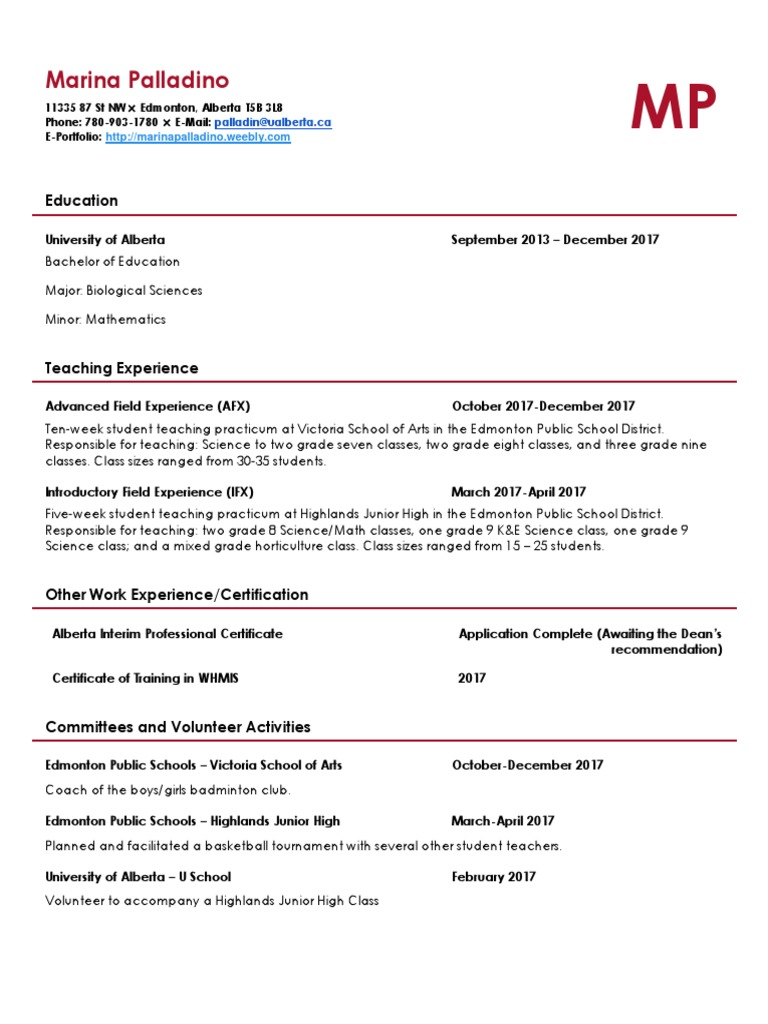 Copy of teaching resume educational institutions schools aiddatafo Choice Image