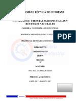 Bormatologia Practica 4 Cenizas