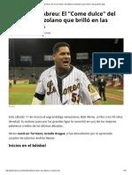 Perfil _ Bob Abreu_ El _Come Dulce_ Del Béisbol Venezolano Que Brilló en Las Grandes Ligas