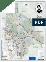 Mapa de Carreteras del Estado Plurinacional de Bolivia (2017)