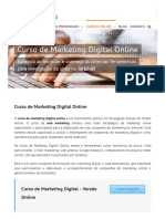 Curso de Marketing Digital Online - Ensino a Distância - EAD