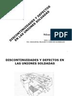 Presentación discontinuidades y defectos de soldadura