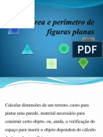 Área e perímetro de figuras planas