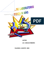 Manual de laboratorio Física cuarto año