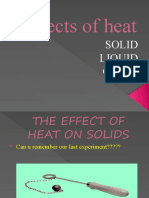 Effects of Heat on Solid , Liquid and Gases
