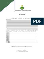 Modelo de Declaração - Títulos Sem o Original