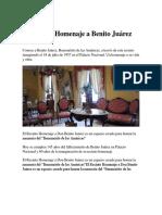 El Recinto Homenaje a Benito Juárez