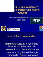 Improving Police Community Relations Through Community Policing