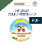 Informe Culto Misionero