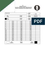 TSF Satranç Notasyon Kağıdı