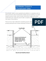 Methods of Groundwater Control in Excavations at Construction Sites