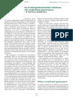 Developments in IGR - Multi-level Governance