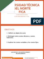 4. Estructura de Costos, CD, Ci, Cv, Cf