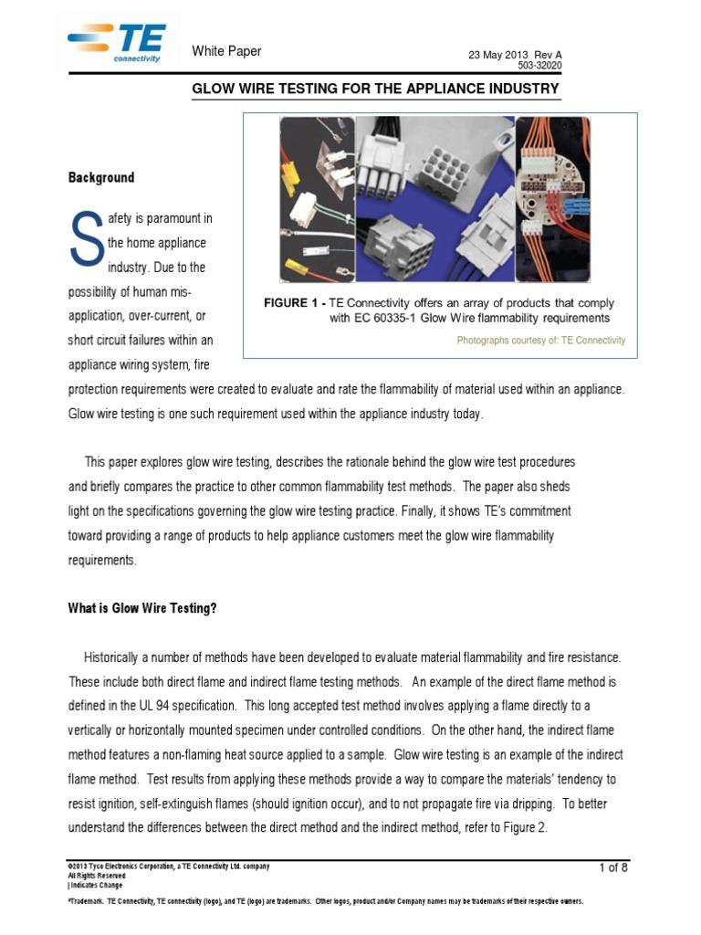 Glow Wire Testing Appliance Industry White Paper | International ...