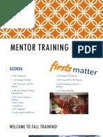 mentor training fall 2017