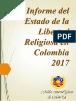 Informe Del Estado de La Libertad Religiosa en Colombia 2017