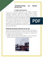 Pasos y Recomendaciones Del Proceso Constructivo de Una Casa