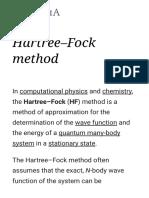 Hartre Fock Method