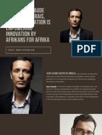 Jean-Claude Bastos de Morais Foundation is Empowering Innovation by Afrikans for Afrika
